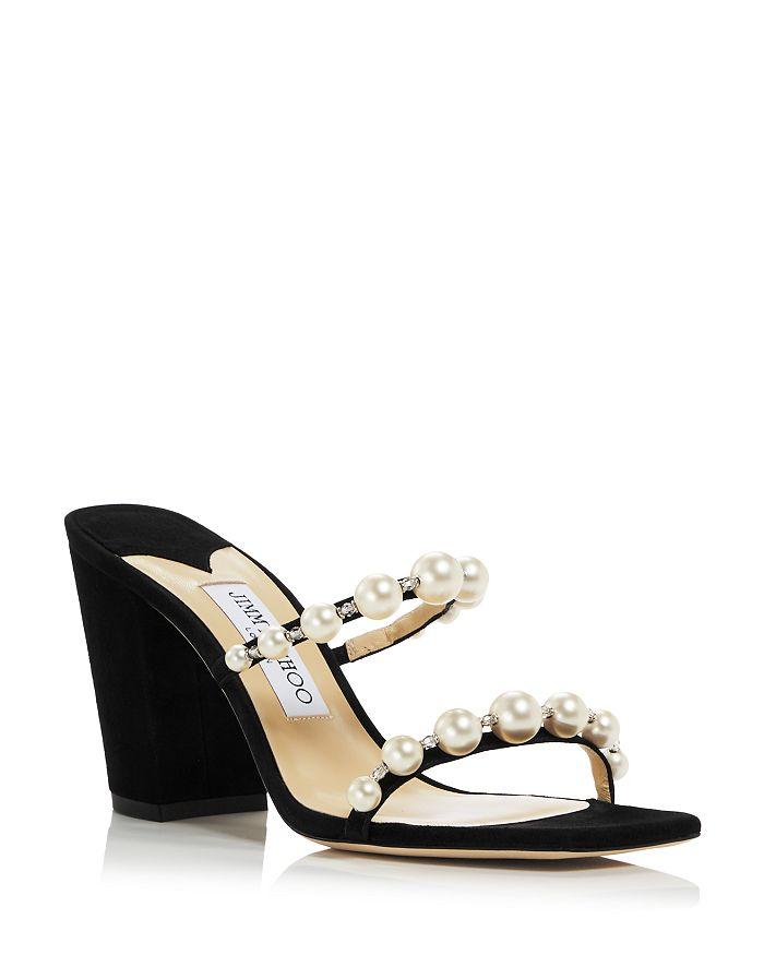 Jimmy Choo - Women's Amara 85 Embellished Block Heel Sandals