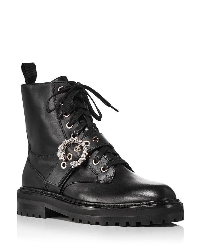 Jimmy Choo - Women's Cora Embellished Combat Boots