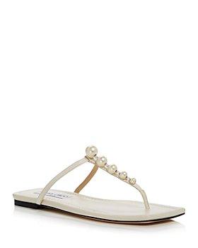 Jimmy Choo - Women's Alaina Embellished Thong Sandals