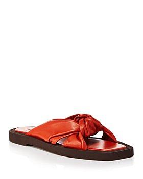 Jimmy Choo - Women's Tropica Leather Flat Sandals