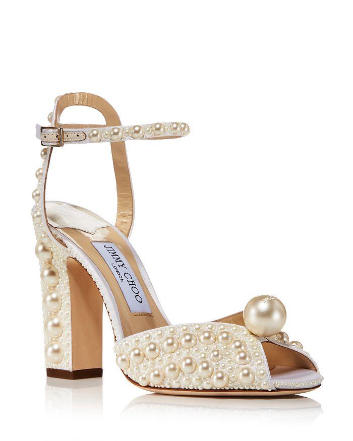 Jimmy Choo - Women's Sacaria 100 Embellished Block Heel Sandals