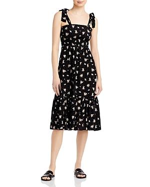 Floral Tiered Tie Shoulder Dress (58% off)
