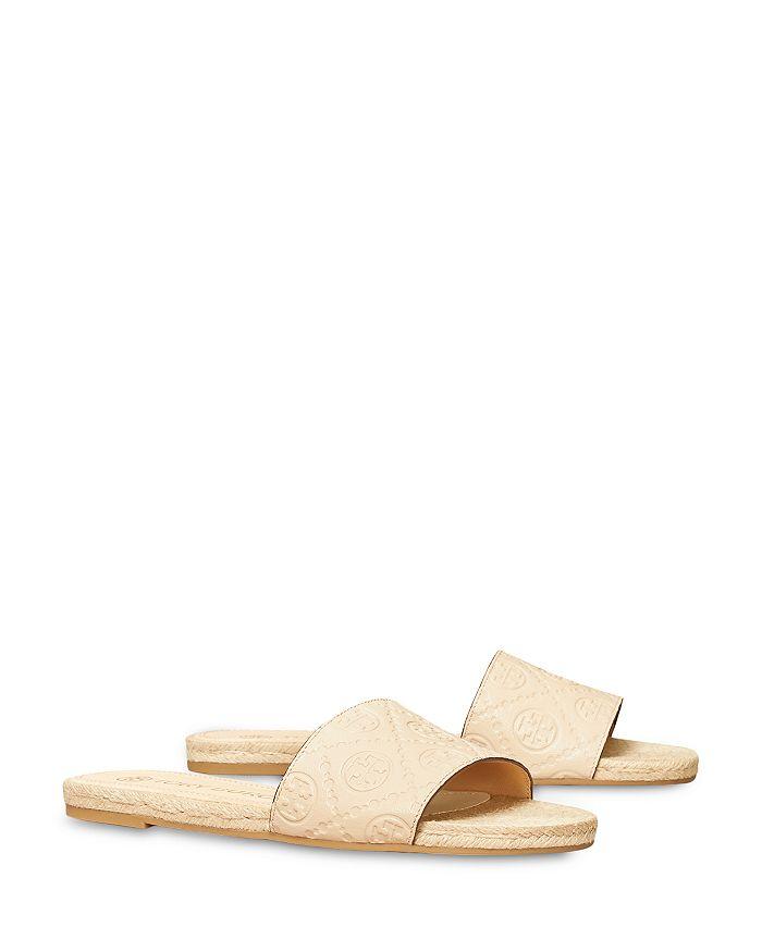 Tory Burch - Women's T Monogram Espadrille Leather Slide Sandals