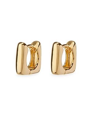Mini Art Deco Square Huggie Hoop Earrings