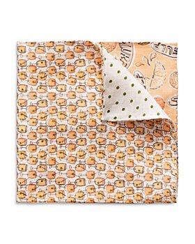 Eton - Four Quadrant Linen Pocket Square