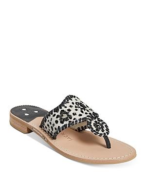 Women's Jacks Whipstitch Thong Sandals