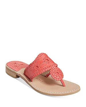 Women's Jacks Flat Leather Thong Sandals