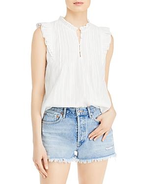 Aqua Sleeveless Cotton Ruffle Top - 100% Exclusive