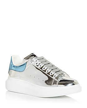 Alexander McQUEEN - Oversized Metallic Leather Low Top Sneakers