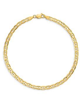 Bloomingdale's - Bloomingdale's Men's Anchor Link Chain Bracelet in 14K Yellow Gold - 100% Exclusive