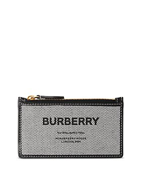 Burberry - Horseferry Canvas & Leather Card Case