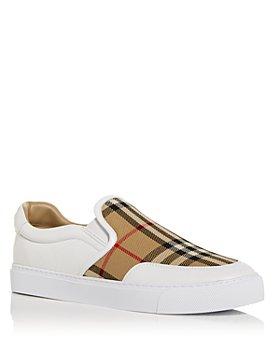Burberry - Women's Salmond Vintage Check Slip On Sneakers