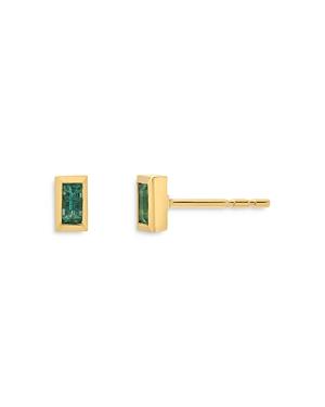 Zoe Lev 14K Yellow Gold Emerald Stud Earrings
