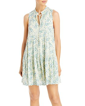 AQUA - Printed Tiered Mini Dress - 100% Exclusive