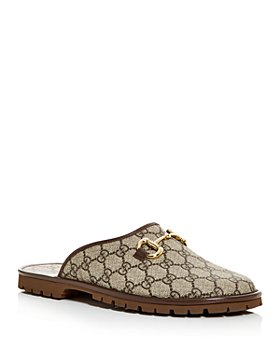 Gucci - Men's GG Supreme Horsebit Slippers