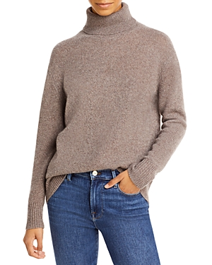 Turtleneck Cashmere Tunic Sweater