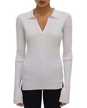 Helmut Lang - Ribbed Collared Sweater