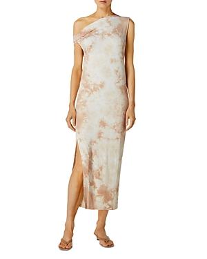 Exposed Shoulder Midi Dress