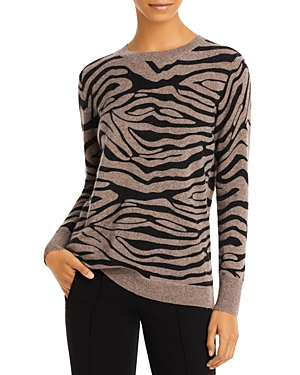 Zebra Print Cashmere Sweater