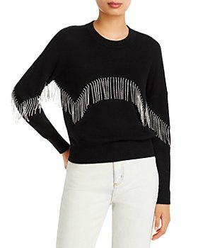 AQUA - Rhinestone Fringe Sweater - 100% Exclusive