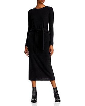 AQUA - Tie Waist Cashmere Midi Dress - 100% Exclusive