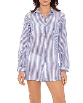 Ralph Lauren - Striped Camp Shirt Swim Cover-Up