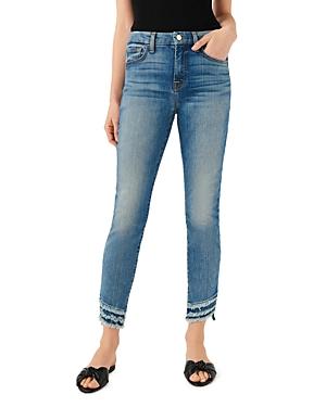 Jen 7 Frayed Hem Skinny Ankle Jeans in Canyon Coast