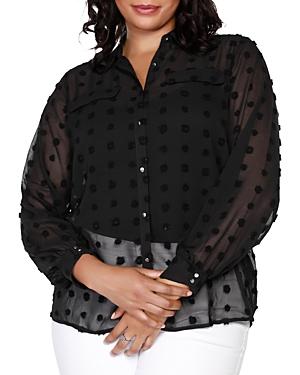 Clip Dot Front Button Shirt