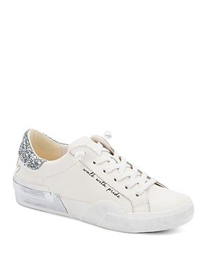 Women's Zina Almond Toe Sparkle Pride Leather Sneakers