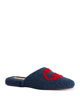 Gucci - Men's Flamel Interlocking G Wool Slippers