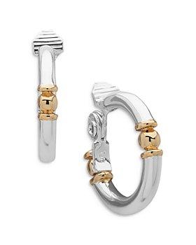 Ralph Lauren - Two-Tone Clip-On Medium Hoop Earrings
