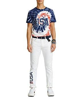 Polo Ralph Lauren - Team USA Tie-Dye Jersey Tee & Closing Ceremony Sullivan Slim Fit Jeans