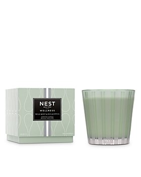 NEST Fragrances - Wild Mint & Eucalyptus 3 Wick Candle, 21.2 oz.