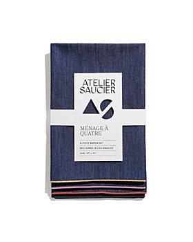 ATELIER SAUCIER - Rainbow Denim Napkins, Set of 4