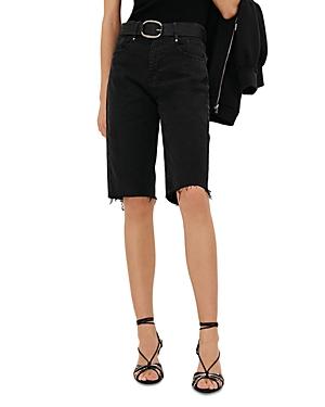 ba & sh Brune Cutoff Denim Shorts
