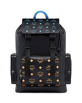 MCM - Contrasting Color Splash Logo Backpack