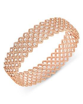 Roberto Coin - 18K Rose Gold Roman Barocco Five Row Bangle Bracelet with Diamonds