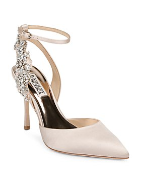 Badgley Mischka - Women's Blanca Ankle Strap Embellished Pumps