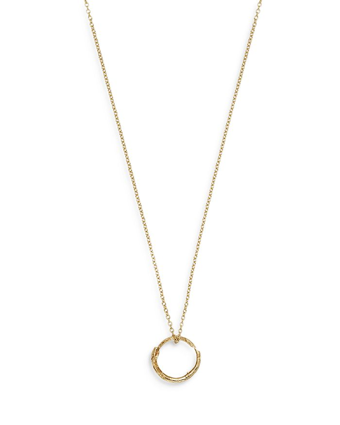 """Gucci - 18K Yellow Gold Ouroboros Charm Necklace, 27.5"""""""