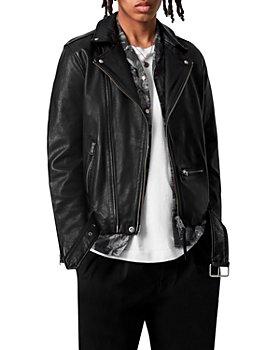 ALLSAINTS - Wick Leather Regular Fit Biker Jacket
