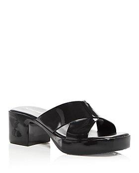 Jeffrey Campbell - Women's Bubblegum Jelly Platform High Heel Slide Sandals