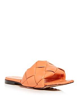 Bottega Veneta - Women's Woven Slide Sandals