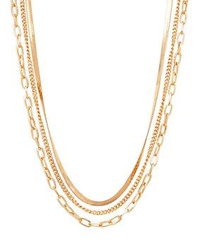 "AQUA - Triple Layered Chain Necklace, 15.5"" - 100% Exclusive"
