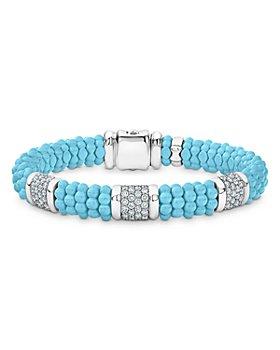 LAGOS - Sterling Silver Caviar Ceramic Bracelet