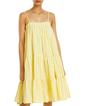 AQUA - Striped Tiered Dress - 100% Exclusive