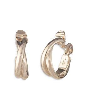 Ralph Lauren - Crossover Clip On Hoop Earrings