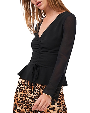 Image of 1.state Bell Sleeve Peplum Top