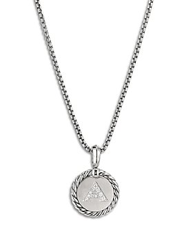 David Yurman - Sterling Silver Cable Collectibles Initial Charm