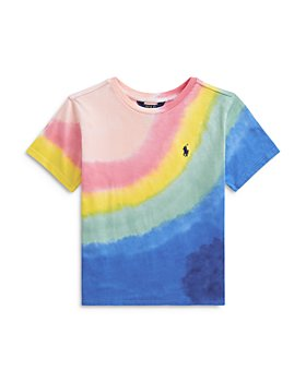Ralph Lauren - Girls' Tie Dyed Rainbow Cotton Tee - Little Kid, Big Kid