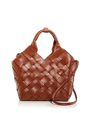 Misu Medium Woven Leather Shoulder Bag